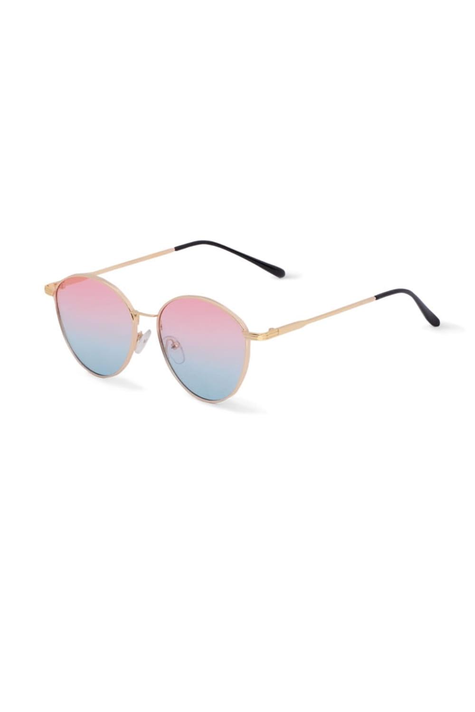 Okulary przeciwsłoneczne złote oprawki F136col.12