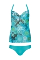 Tankini bluzka i figi p-up Neo Mint F55/751 ph